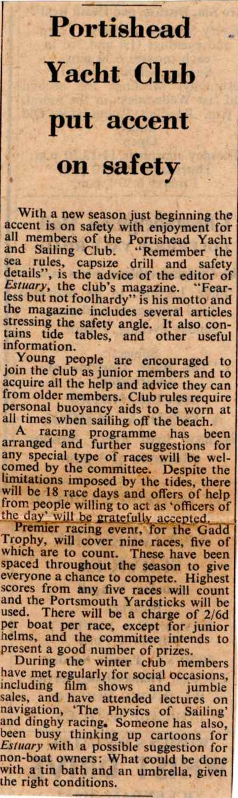Article about PYSC from 1967