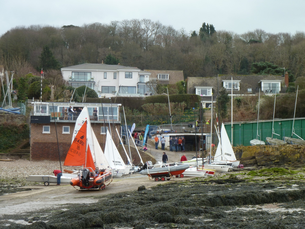 Boats on PYSC slipway ready to race.